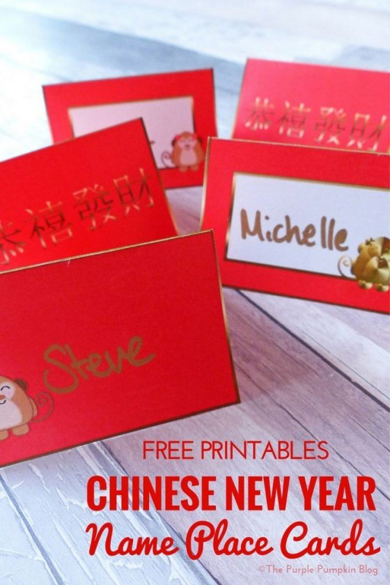 Free Printable Chinese New Year Name Place Cards