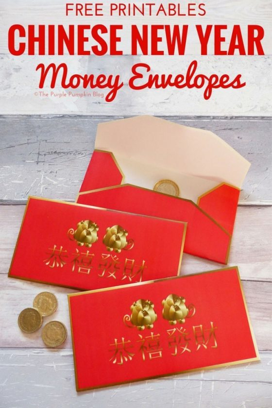 Free Printable Money Envelopes for Chinese New Year. It's traditional at Chinese New Year to had out red envelopes with money inside. The red symbolizes good luck and is supposed to ward off evil spirits