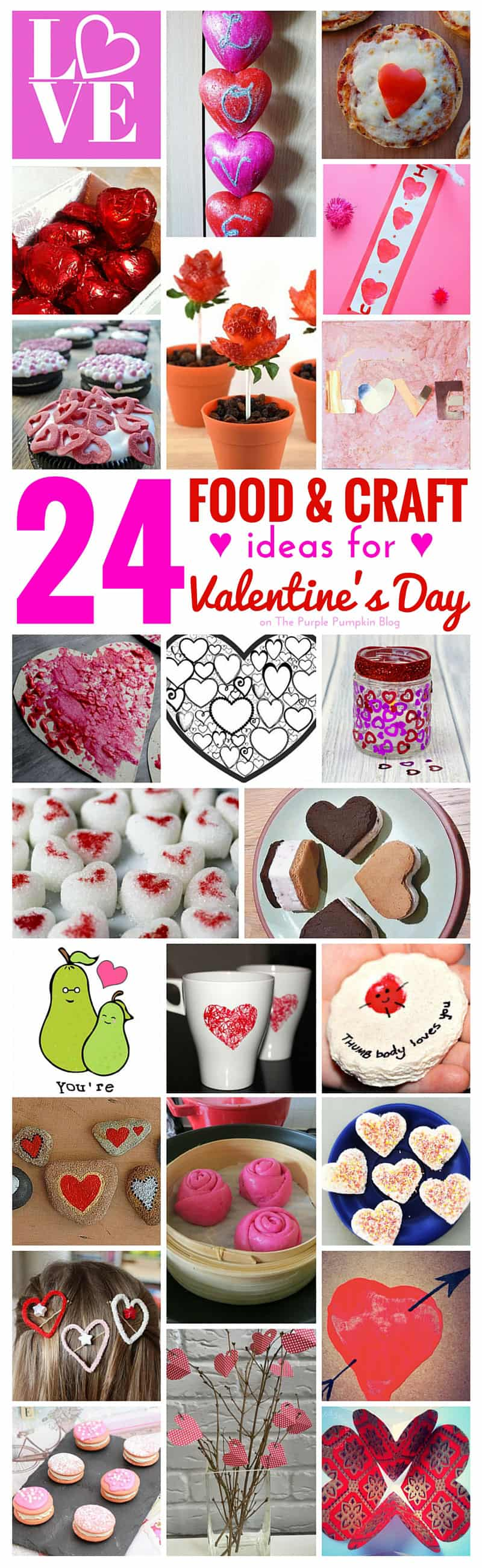 24 food craft ideas for valentine 39 s day the purple for Craft ideas for valentines day