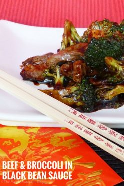 Beef & Broccoli in Black Bean Sauce