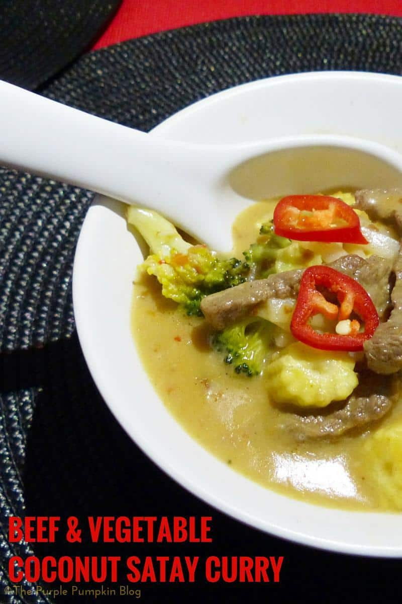 Beef & Vegetable Coconut Satay Curry