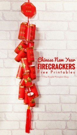 These free printables can be turned into an awesome set of Chinese New Year firecrackers!