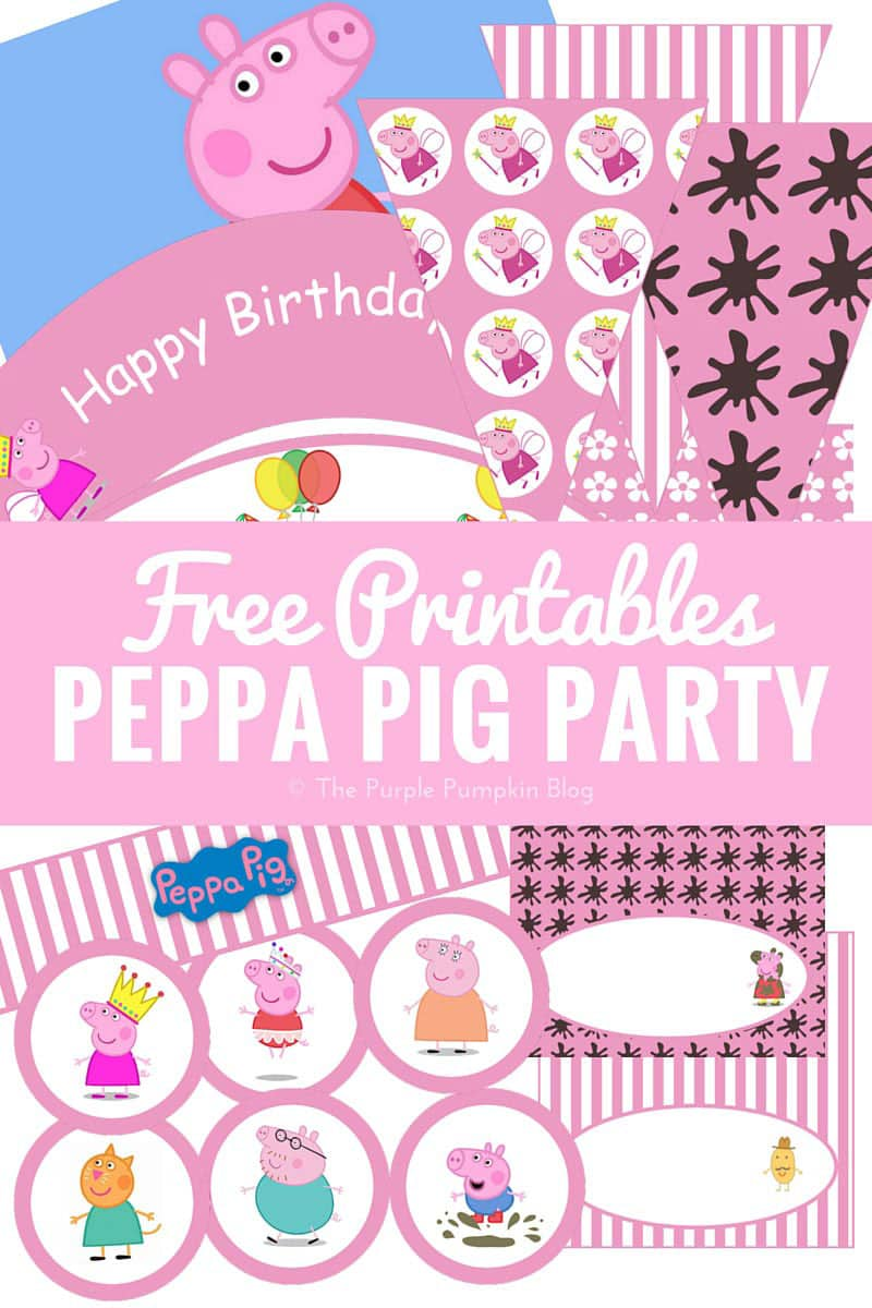 peppa pig party printables fun party ideas the purple pumpkin blog