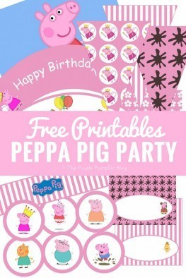 A great set of free printables for a Peppa Pig Party! Plus ideas for throwing a Peppa Pig themed birthday party.