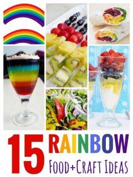 15 Rainbow Food + Craft Ideas