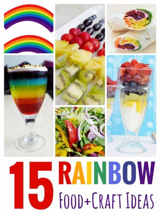 15 Rainbow Food + Craft Ideas