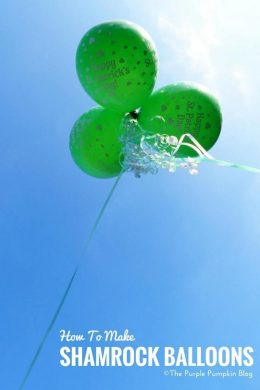 How to make Shamrock (Clover) Balloons - these are fun to make for St. Patrick's Day. Plus there is also a tutorial to make shamrock balloon wands!