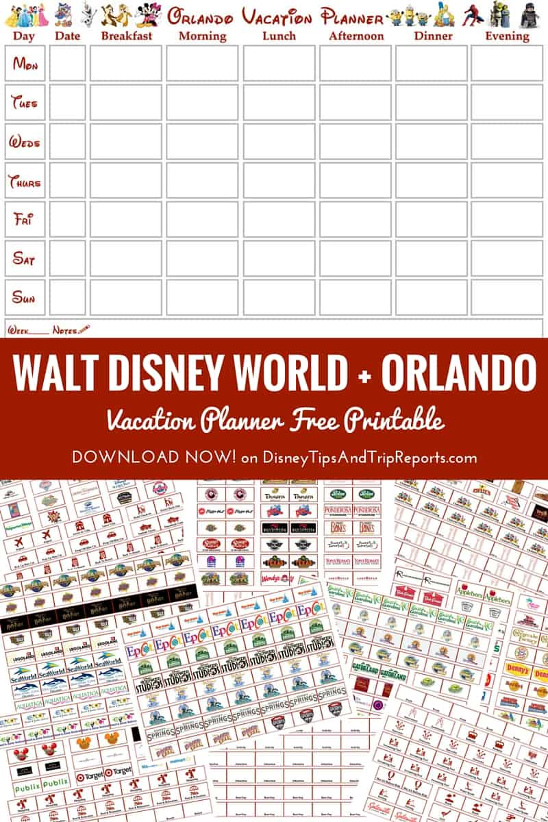 Orlando walt disney world vacation planner free printable for Planner co
