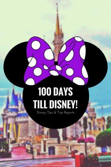 100 Days Till Disney - Planning for a Walt Disney World Vacation