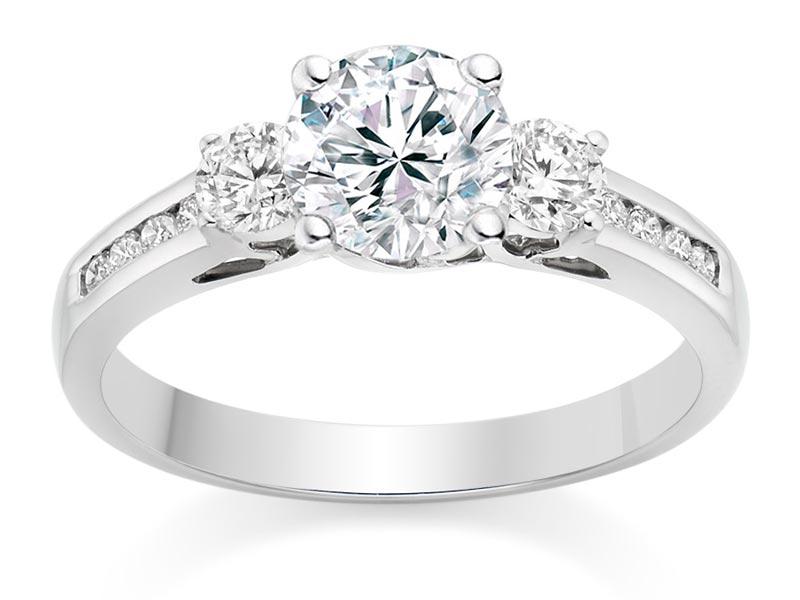 Trio Wedding Rings 39 Superb Vashi Round Cut Carat