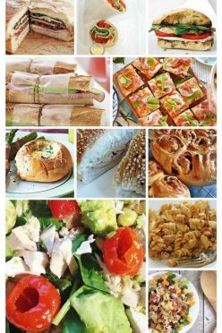50 Picnic Recipes - from sandwiches, and salads, to desserts, and drinks - great picnic recipes ideas for everyone! Save this pin for later!