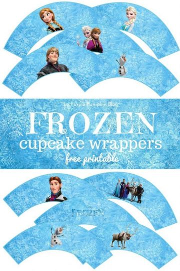 Free Frozen Printables! Frozen Cupcake Wrappers + lots more Frozen printables on this website!