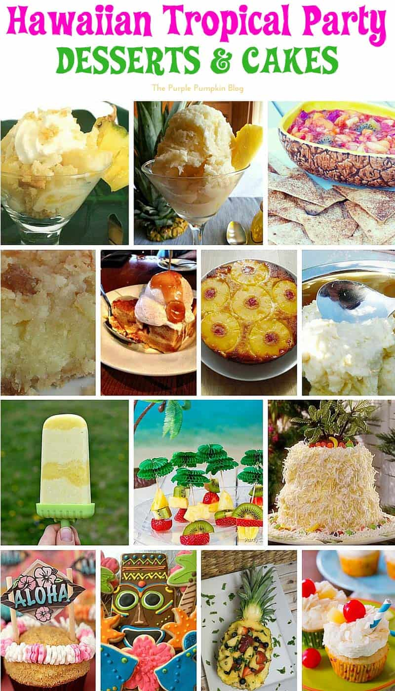 Hawaiian Tropical Party Recipes - Desserts & Cakes + lots more delicious recipes!