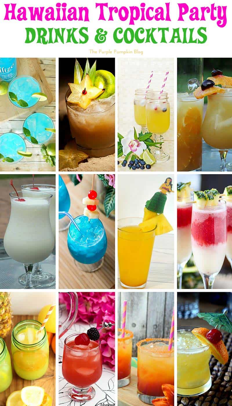 50 recipes for a hawaiian tropical party the purple for Party food and drink ideas