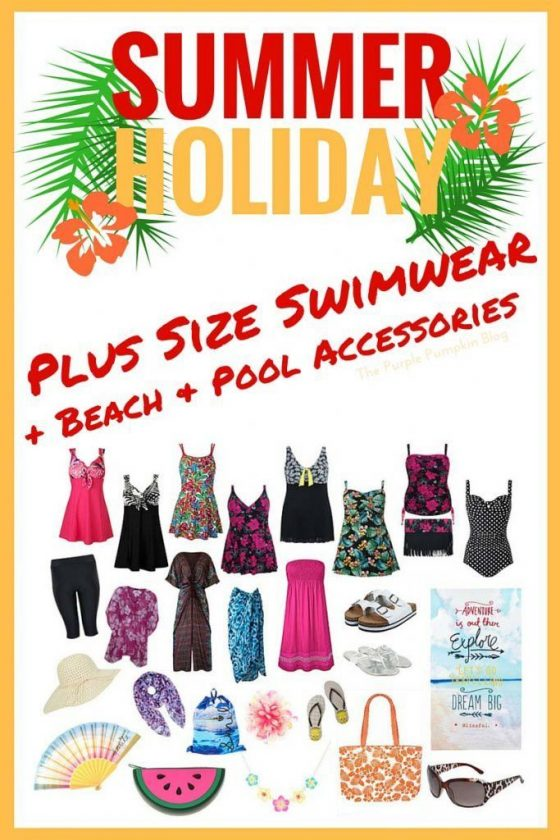 Plus Size Swimwear + Beach and Pool Accessories