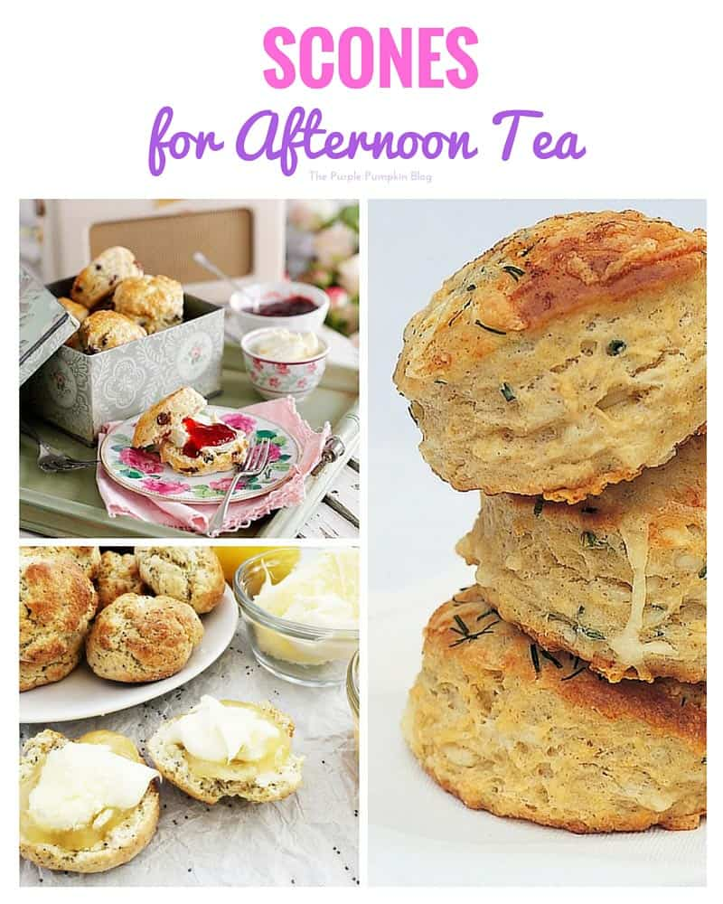 Scone recipes for afternoon tea + another 47 recipes to serve at this tea time treat