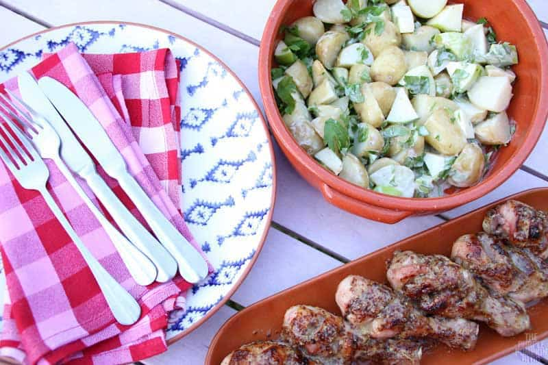 Honey & Mustard Chicken with Apple-Potato Salad » The Purple Pumpkin ...