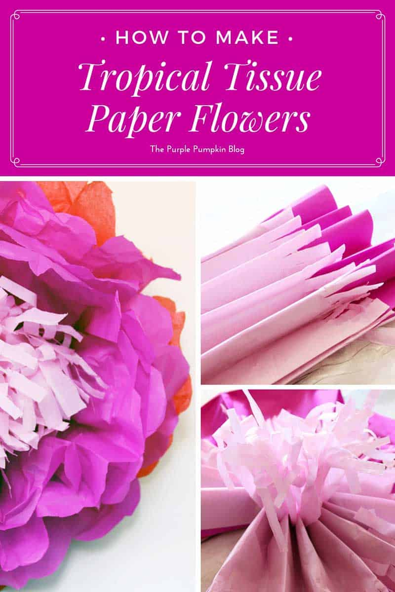 How to make tropical tissue paper flowers mightylinksfo