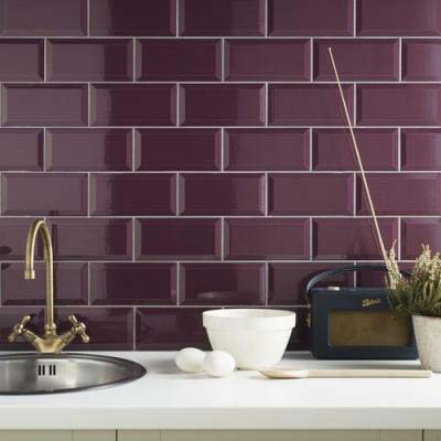 Win a 250 gift voucher from tile mountain ended the - Purple kitchen wall tiles ...