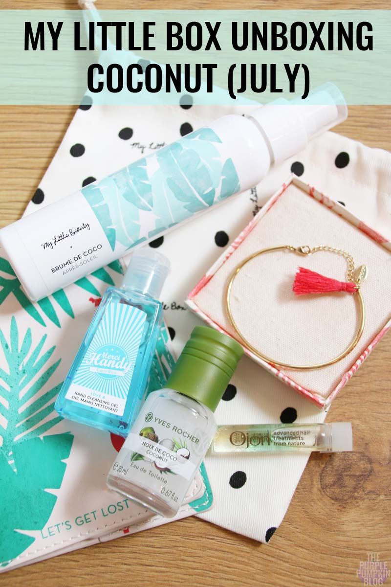 My Little Box Unboxing - Coconut - July 2016