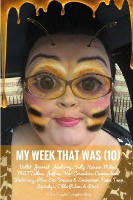 My Week That Was - 10: Bullet Journal, Jamberry, Sally Hansen, Milani MATTallics, Jeffree Star Cosmetics, Camera lens, Stationery, Plus-Size Dresses & Swimwear, Tsum Tsum Squishys, Tilda Pulses & Rice!