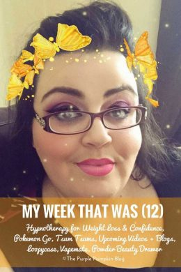 My Week That Was - Hypnotherapy for Weight Loss & Confidence