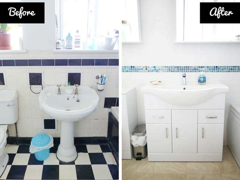 New Bathroom - Before & After