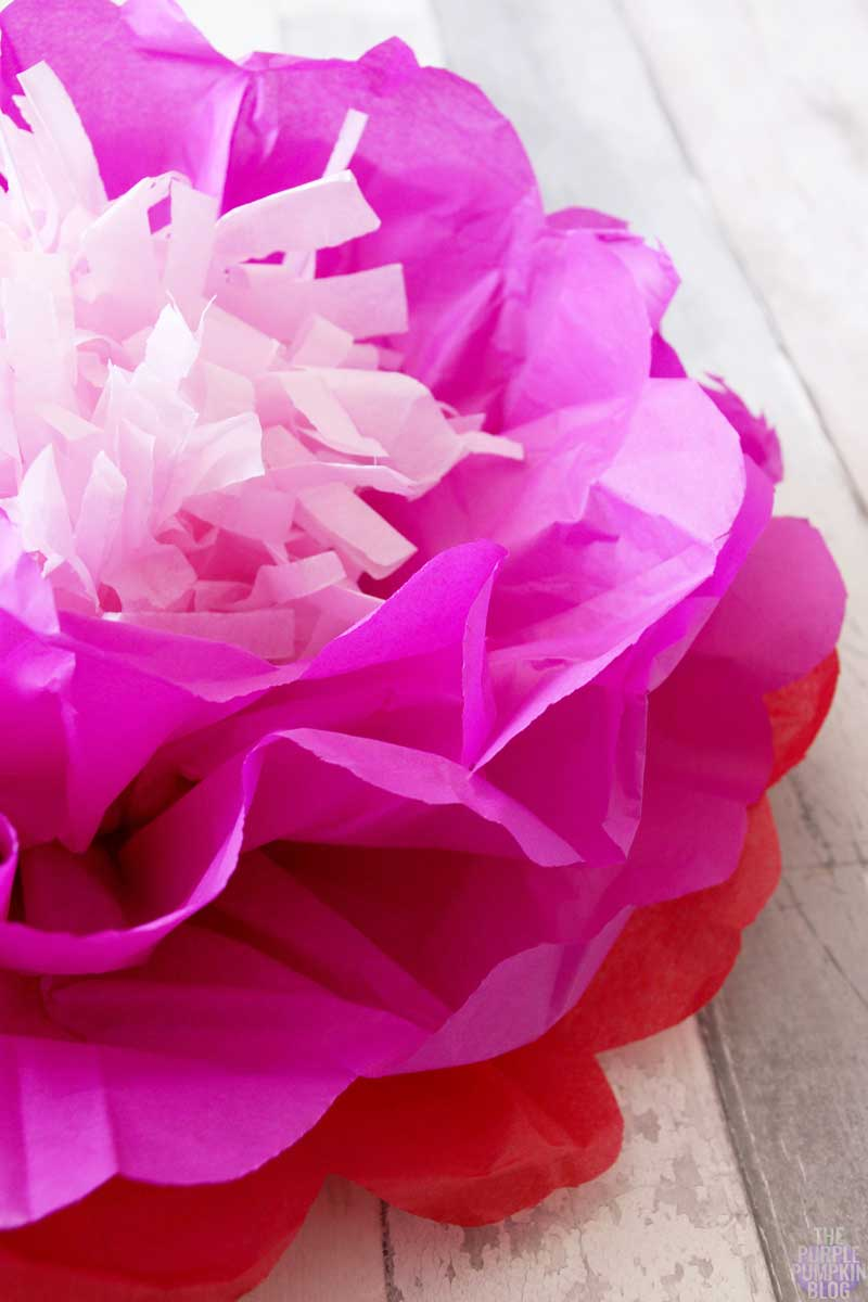 how to make tropical tissue paper flowers  u00bb the purple