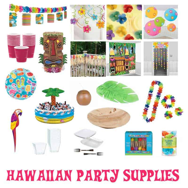 Hawaiian Party Supplies + Decorations