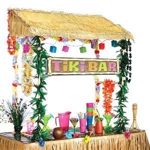 how to build a tiki bar using old pallets hawaiian party decorations the purple pumpkin blog. Black Bedroom Furniture Sets. Home Design Ideas