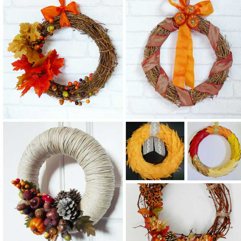 Autumn Wreath Craft Ideas