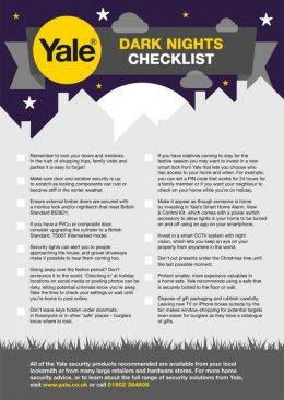 Dark Nights Checklist