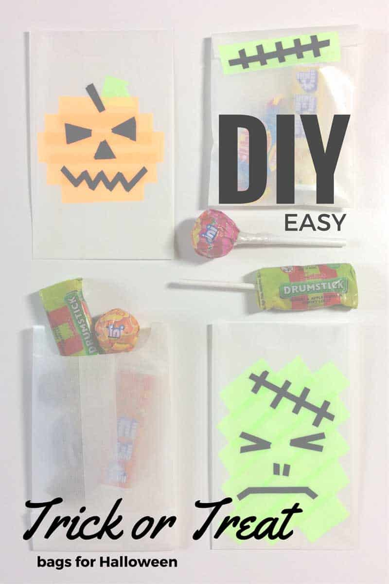 diy trick or treat bags for crafty october day