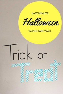 Last minute washi tape Halloween decor