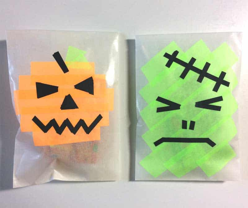 Washi Tape DIY Trick or Treat Bags