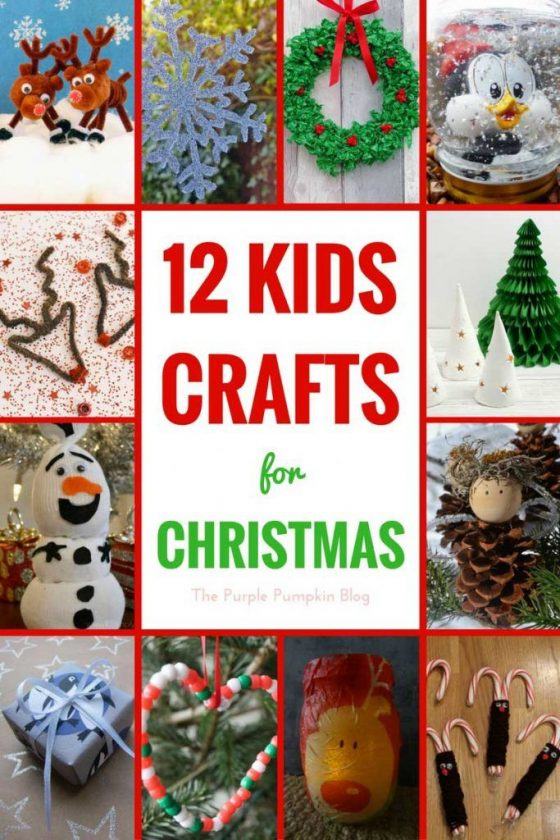 12 Kids Crafts for Christmas - a selection of fun crafts that kids can make round the holidays.