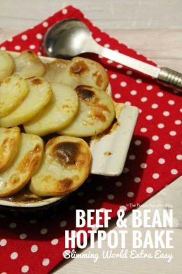 Beef & Bean Hotpot Bake - Slimming World Recipe