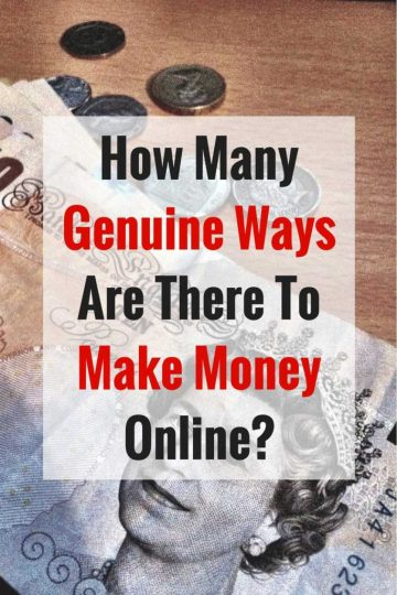 How Many Genuine Ways Are There To Make Money Online?