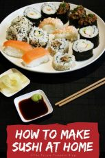 How To Make Sushi At Home - it's not as hard as you think! Most supermarkets sell sushi making ingredients, so why not have a go and make sushi at home?