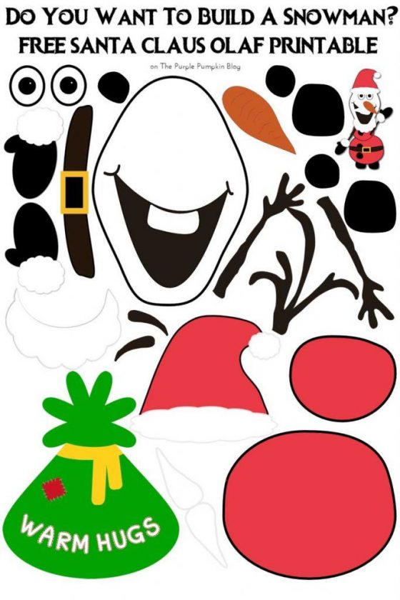 Santa Claus Olaf - Do You Want To Build A Snowman Free Printable + tons of other free Disney printables on this website!