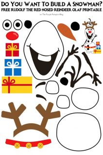 Do You Want To Build A Snowman - Free Printable - Rudolf the Red-Nosed Reindeer Olaf Edition