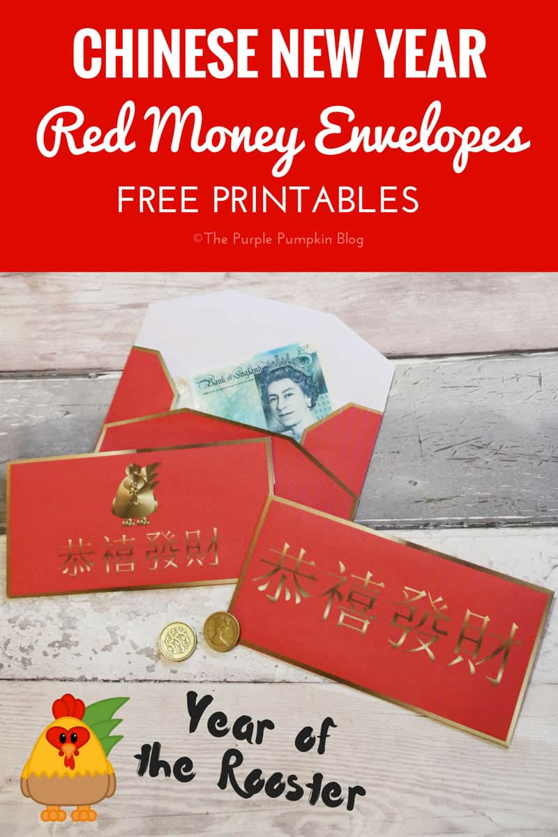Red Money Envelopes for Chinese New Year - Year of the Rooster