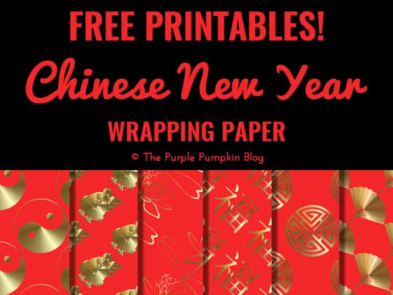 Free Chinese New Year wrapping paper printables - simply download and print!
