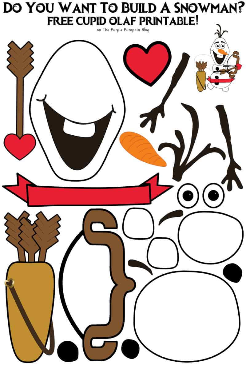 This is a photo of Versatile Free Olaf Printable