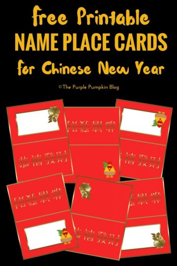 Free Printable Name Place Cards for Chinese New Year