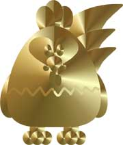Gold Rooster