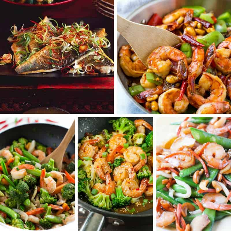 Recipes for Chinese Main Dishes with Fish + Seafood
