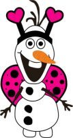 Love Bug Olaf - Pink