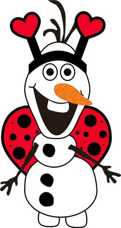 Love Bug Olaf - Red