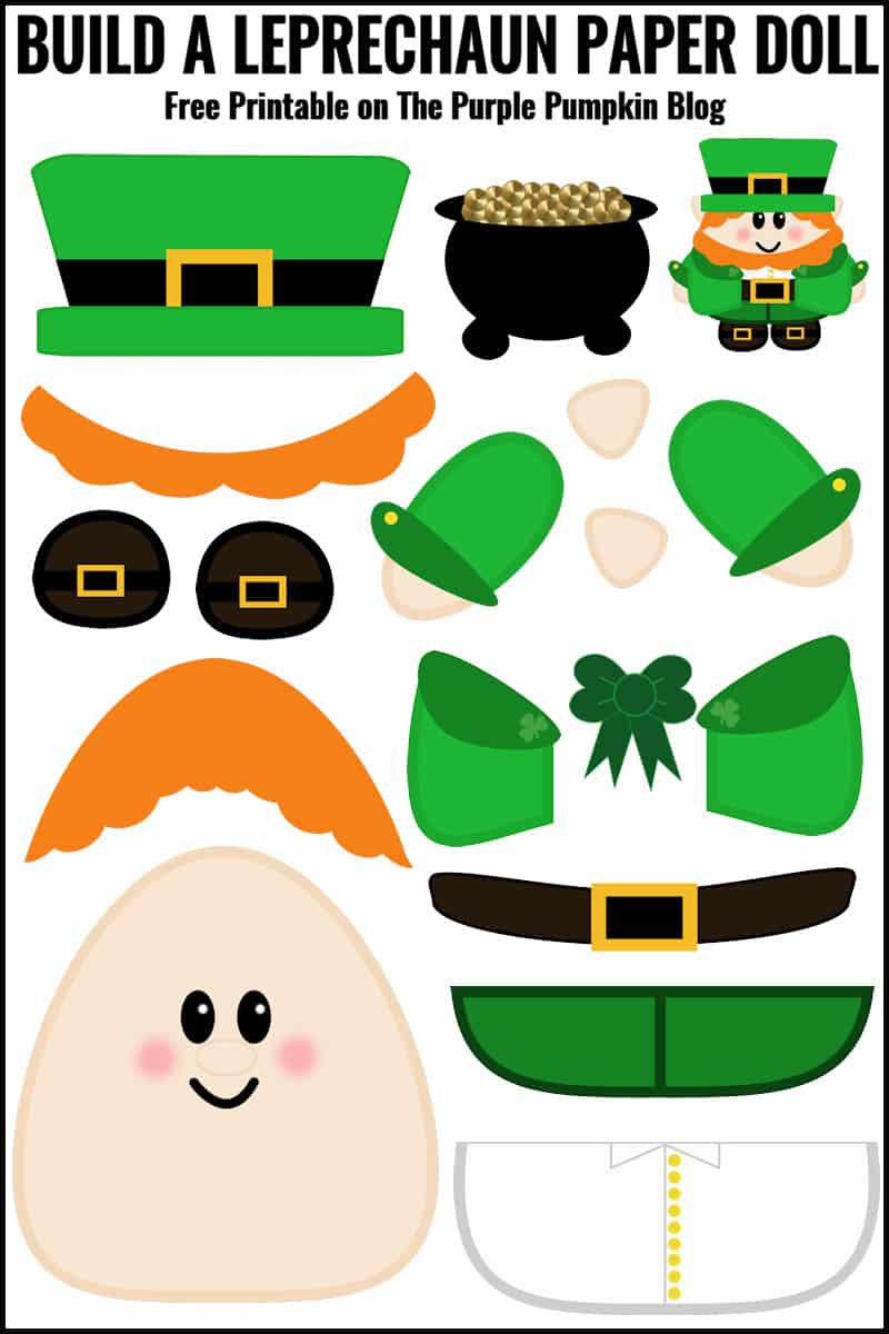 Shocking image with regard to leprechaun cut out printable